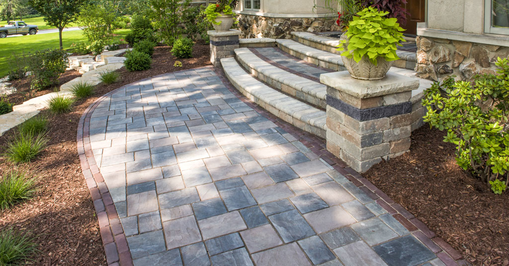 Front Walkway in Wayne, NJ | Unilock Concrete Pavers