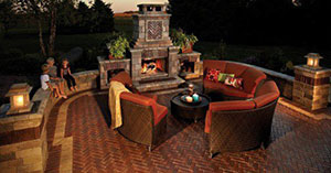 Fireplace Outdoor Living Copthorne Brussels Block Paver
