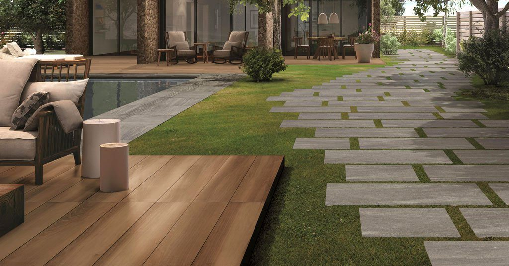 Unilock Porcelain Outdoor Tile And Wood Decking